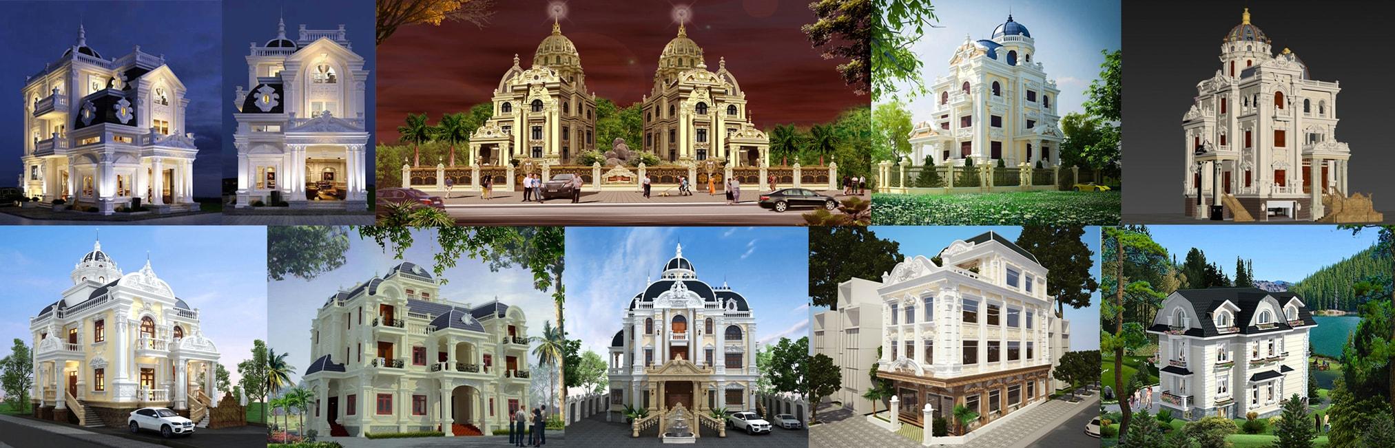 Lâu đài, villa, biệt thự, nhà vườn