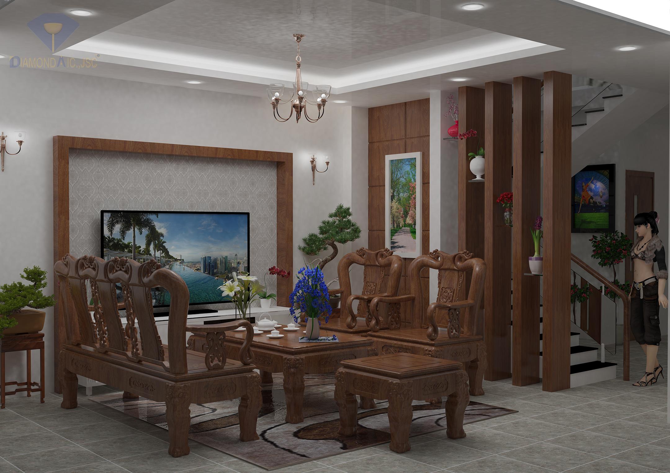 Biệt thự đẹp - Nội thất phòng khách
