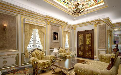 Nội thất lâu đài cổ điển đẹp , với phong cách hoàng gia châu âu
