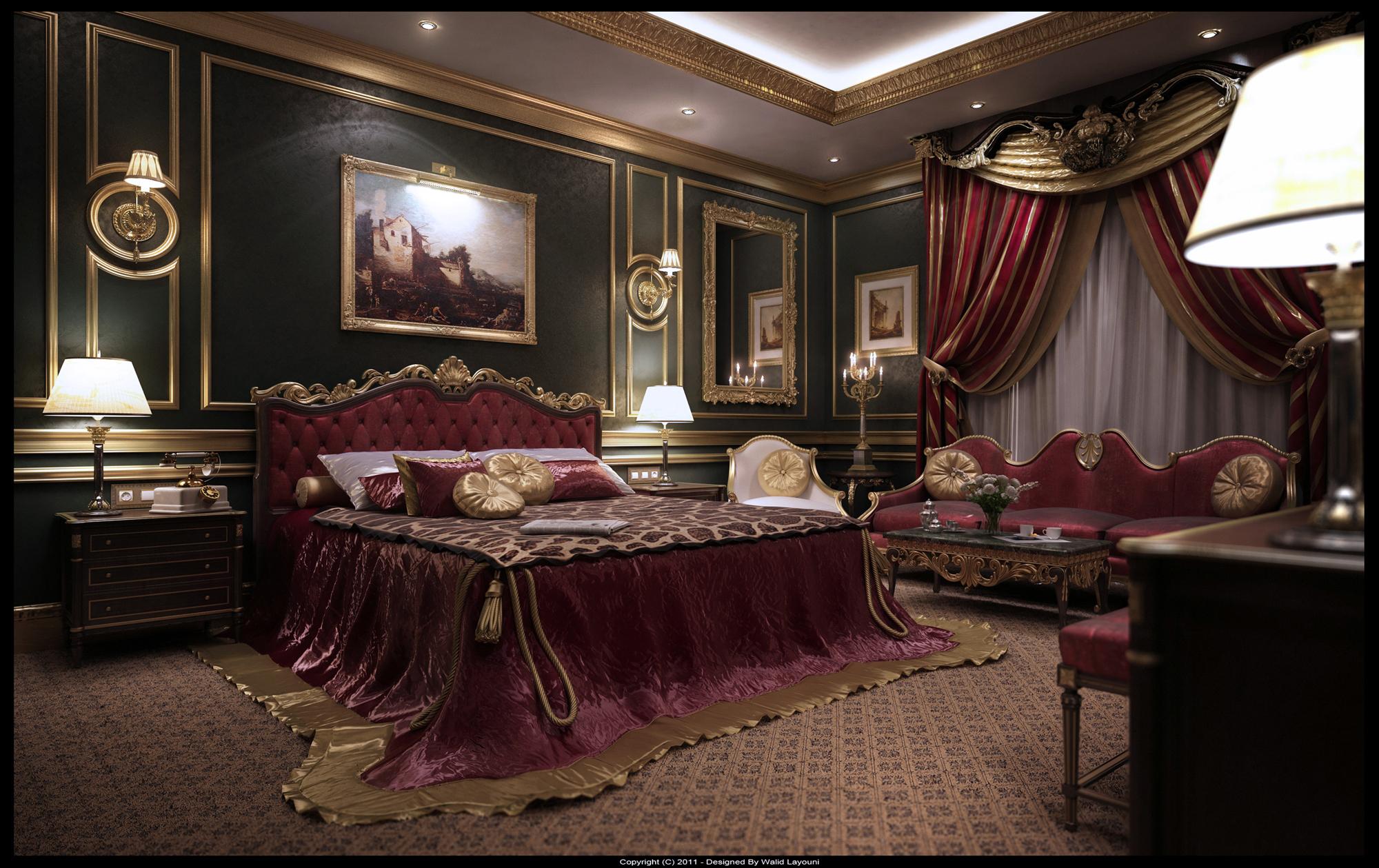 Nội thất lâu đài cổ điển, với phong cách hoàng gia châu âu