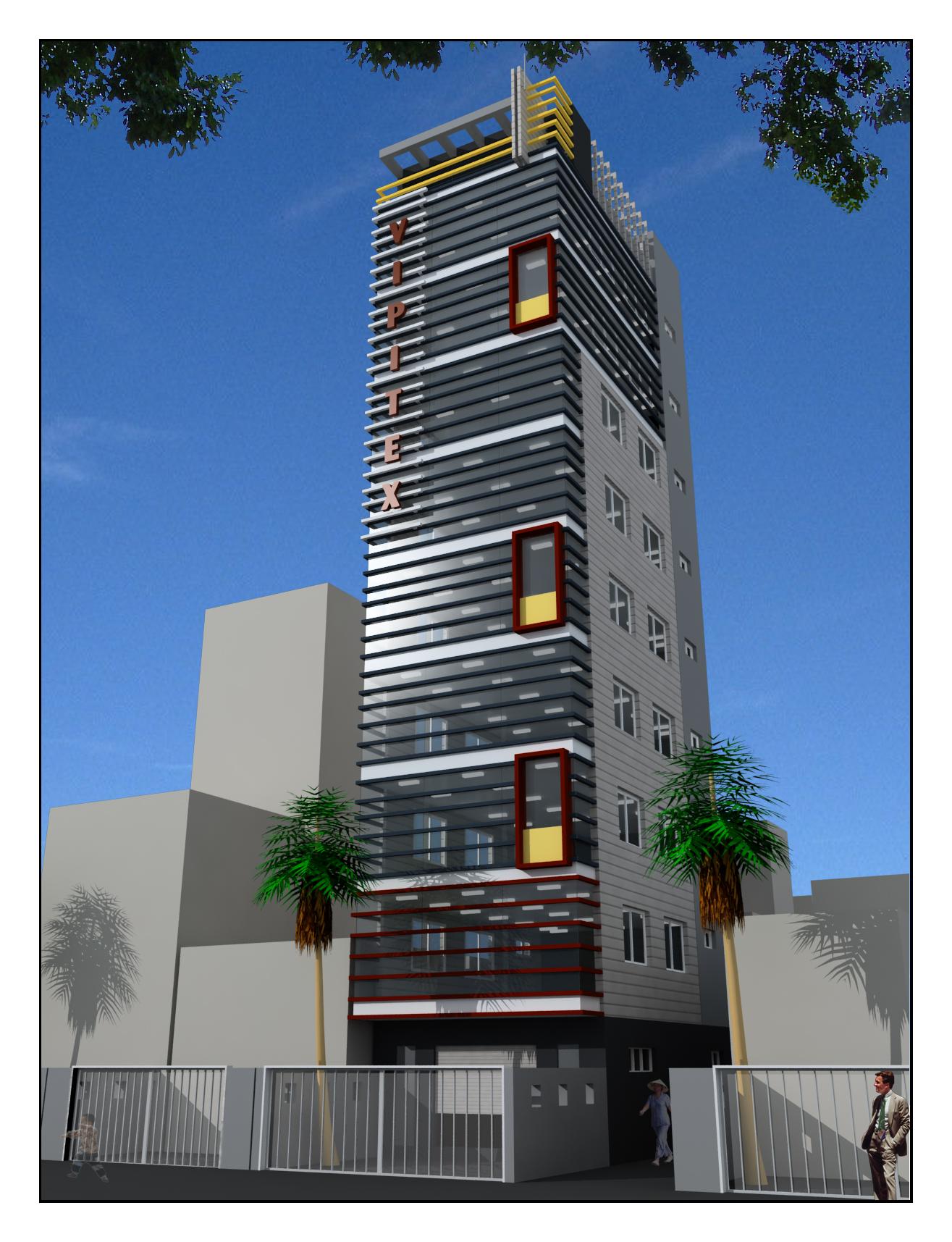 Tòa Nhà văn phòng cho thuê 9 tầng đẹp