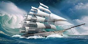 Tranh thuận buồm xuôi gió khổ 60x120cm